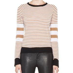 A.L.C. Striped Wool Cayden Sweater Camel 2